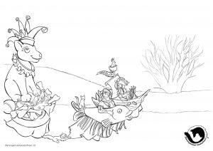 dpo dierenpension oosterhout kleurplaat karnafal hond vis parade