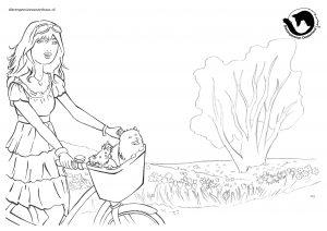 dpo dierenpension oosterhout kleurplaat lenten fiets hond boom meid