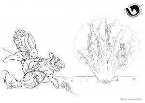 dpo dierenpension oosterhout kleurplaat paasen paashaas hond kat