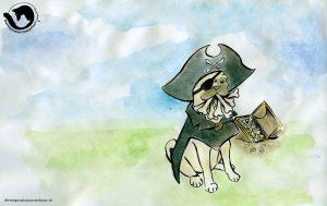 dpo dierenpension oosterhout wallpaper bone mop piraat schatkist
