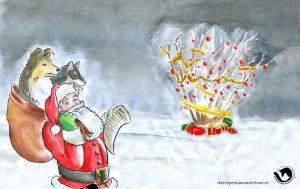 dpo dierenpension oosterhout wallpaper kerst kerstman hond kerstboom