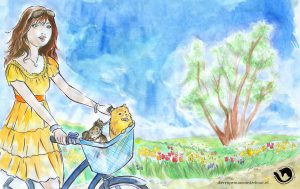 dpo dierenpension oosterhout wallpaper lenten fiets hond boom meid