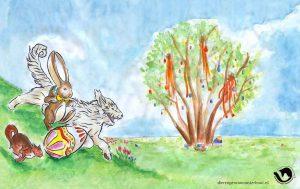 dpo dierenpension oosterhout wallpaper paasen paashaas hond kat