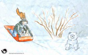 dpo dierenpension oosterhout wallpaper winter kat slee hond man sneeuw